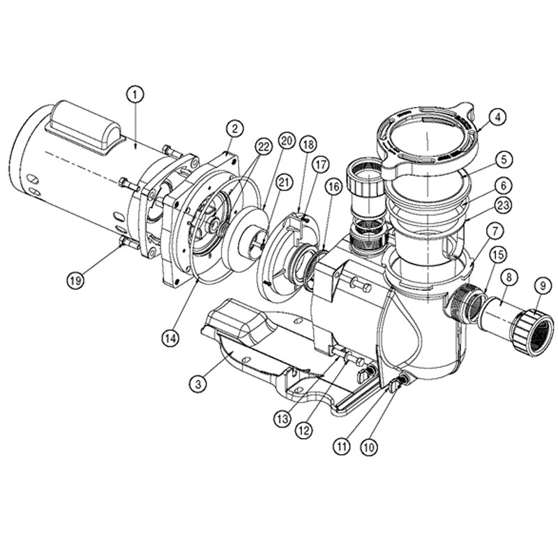 pentair superflo pump - swimming pool pump parts, pentair ... pentair pool pump wiring diagram